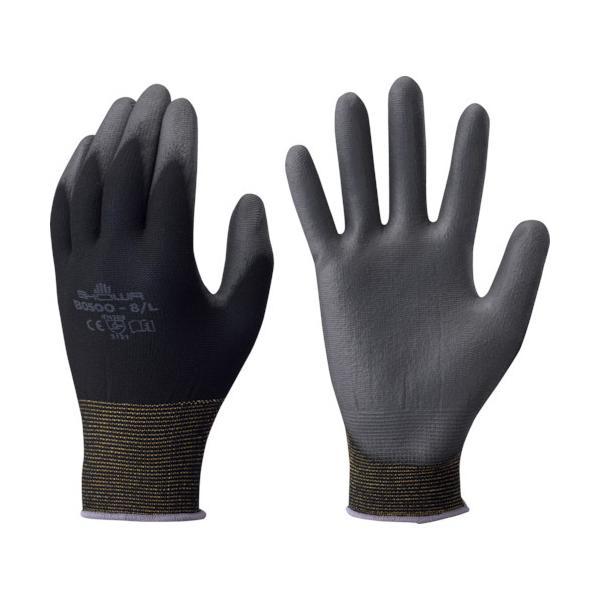ショーワ ウレタン背抜き手袋  簡易包装パームフィット手袋10双入 黒 S/B0500EU-SBK10P ブラック/S