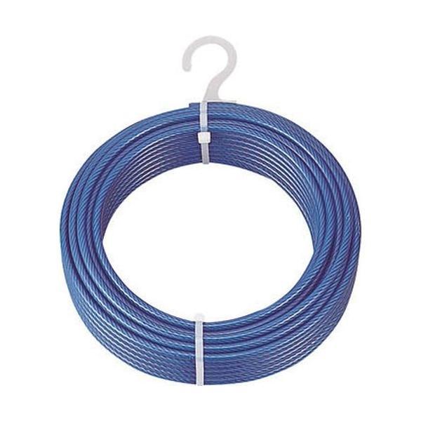 TRUSCO メッキ付ワイヤロープ PVC被覆タイプ Φ2(3)mmX100m