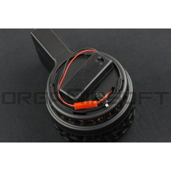 IRON AIRSOFT X-15スタイル 1000連 電動ドラムマガジン orga-airsoft 04
