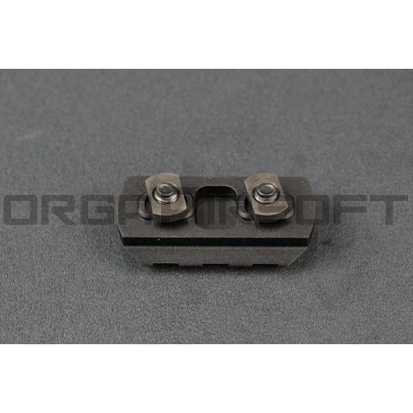IRON AIRSOFT アルミ製 M-LOK レールパネル BK - 3slots -|orga-airsoft|02