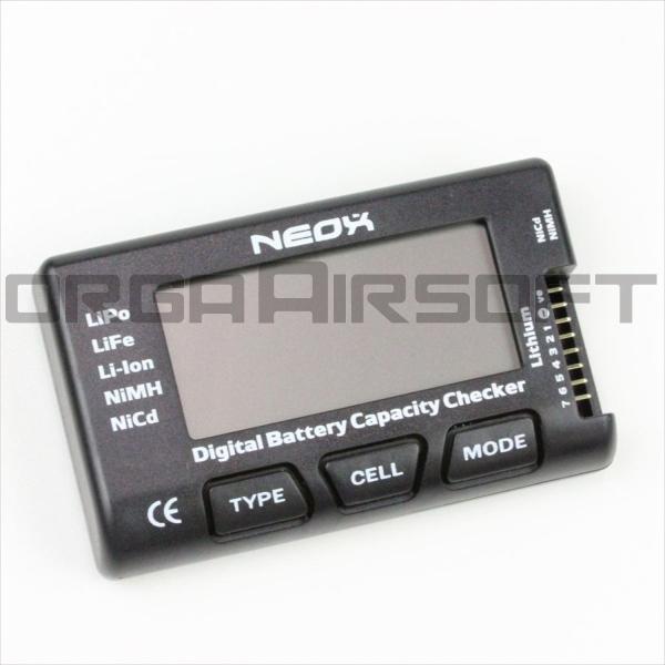 NEOX デジタル バッテリー キャパシティー チェッカー|orga-airsoft