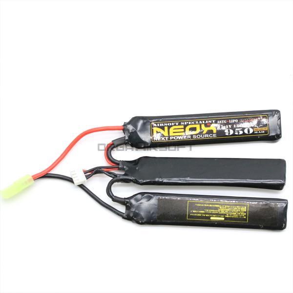 NEOX Lipo11.1v 15C/35C 950mAh ヌンチャク 電動ガン バッテリー orga-airsoft