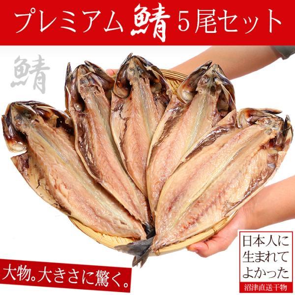 干物 沼津 鯖 サバ 干物 5枚セット 1kg以上 送料無料 さば 開き 肉厚 直送 冷凍 ギフト プレゼント
