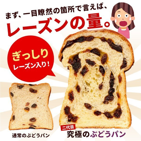 パン 食パン 送料無料 究極のぶどうパン(pn)|organic|02