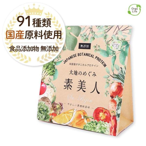 純国産ボタニカルプロテイン 大地のめぐみ素美人 250g 黒糖抹茶味 女性のための美容専門 ソイ タンパク質 美容成分配合 送料無料|organickitchen