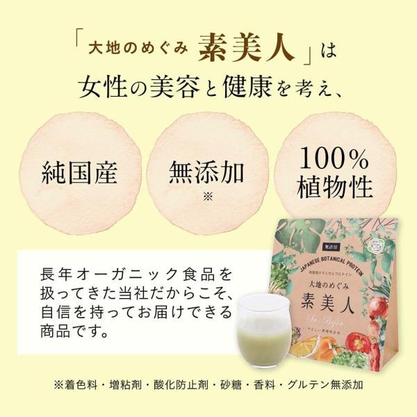純国産ボタニカルプロテイン 大地のめぐみ素美人 250g 黒糖抹茶味 女性のための美容専門 ソイ タンパク質 美容成分配合 送料無料|organickitchen|10