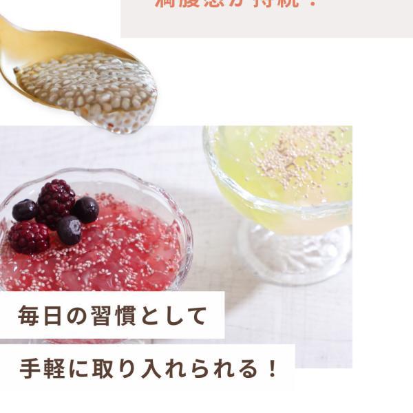 ホワイトチアシード 200g 有機JAS認定 チアシード 無農薬 サルバチア 送料無料|organickitchen|11