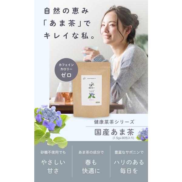 甘茶 国産 1.5g × 30包 アマチャ お茶 ティーバッグ 無農薬 送料無料|organickitchen|02