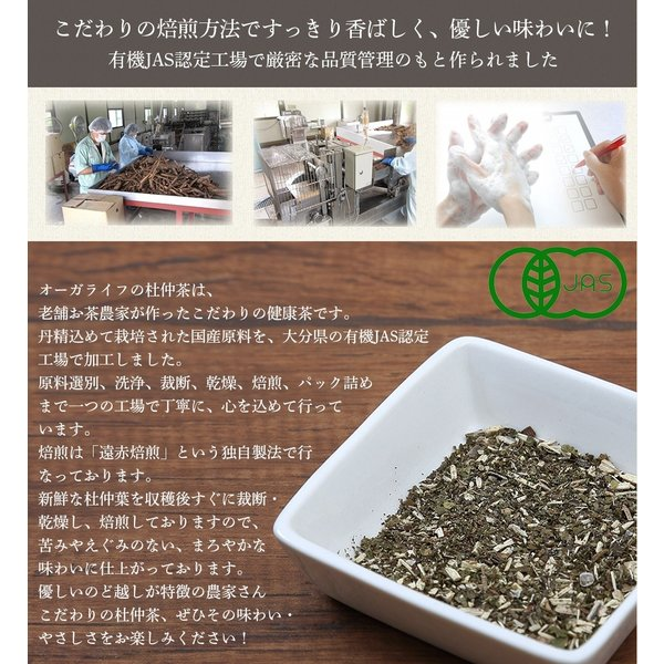 杜仲茶 ティーバッグ 3g x 80包 杜ちゅう茶 とちゅう茶 カフェインレス 国産  茶 健康茶 送料無料|organickitchen|09
