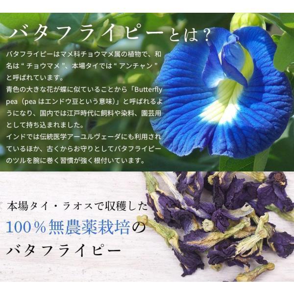 バタフライピー 50g 青いお茶 無農薬 アンチャン ハーブティー  送料無料 organickitchen 06