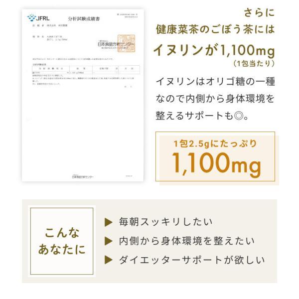 国産 ごぼう茶 2.5g 150包( 50包 x 3袋 ) ごぼう100% 九州産 ティーパック|organickitchen|07