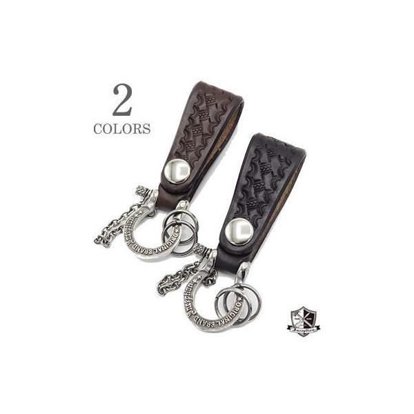 インセプション UKサドル バスケット 真鍮 シルバーメッキ シャックル キーホルダー INCEPTION UK SADDLE BASKET&BRASS Shackle Key Holder IPSK-03
