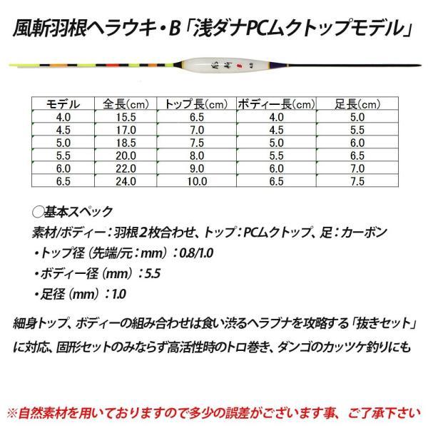 へら浮きセット 風斬 羽根ヘラウキB・浅ダナPCムクトップモデル 6本セット (10207set)ハイスペックモデル ヘラブナ用品 ヘラウキ へらウキ ハネ