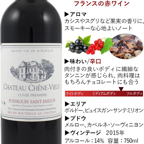 誕生日 ギフト 赤ワイン グラス セット フランス ボルドー シャトー・シェーン・ヴュ 2015年 ドイツ製 ペアグラス 2個|origin-gourmet|03