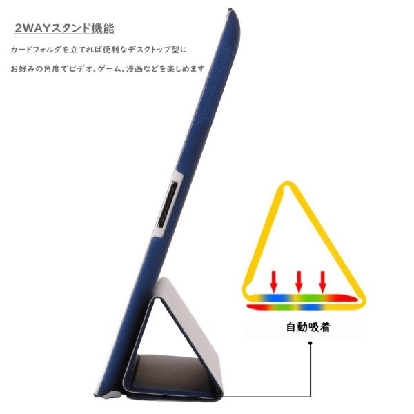 iPad2 iPad3 iPad4 iPad2017 mini1 mini2 mini3 mini4 pro9.7 air air2 おしゃれ かわいい 人気 手帳型 ケース  カバー 三折 レザー 軽量 薄型 全面保護|origin-shop|03