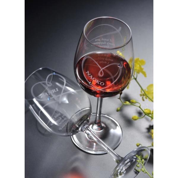 名入れ ワイン 誕生日プレゼント 男性 女性 結婚祝い 名前入り ギフト プレゼント 誕生日 お祝い 結婚祝い ラムール ペアハート ワイングラス original 11