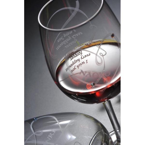 名入れ ワイン 誕生日プレゼント 男性 女性 結婚祝い 名前入り ギフト プレゼント 誕生日 お祝い 結婚祝い ラムール ペアハート ワイングラス original 12