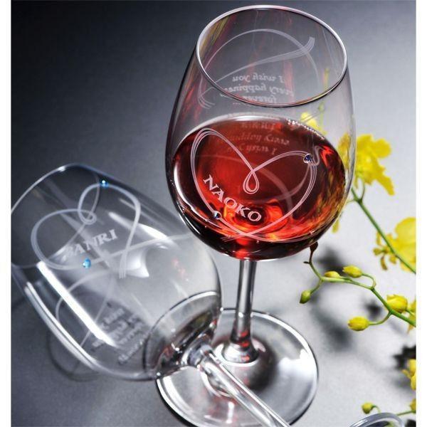 名入れ ワイン 誕生日プレゼント 男性 女性 結婚祝い 名前入り ギフト プレゼント 誕生日 お祝い 結婚祝い ラムール ペアハート ワイングラス original 07