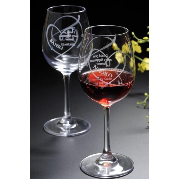 名入れ ワイン 誕生日プレゼント 男性 女性 結婚祝い 名前入り ギフト プレゼント 誕生日 お祝い 結婚祝い ラムール ペアハート ワイングラス original 08