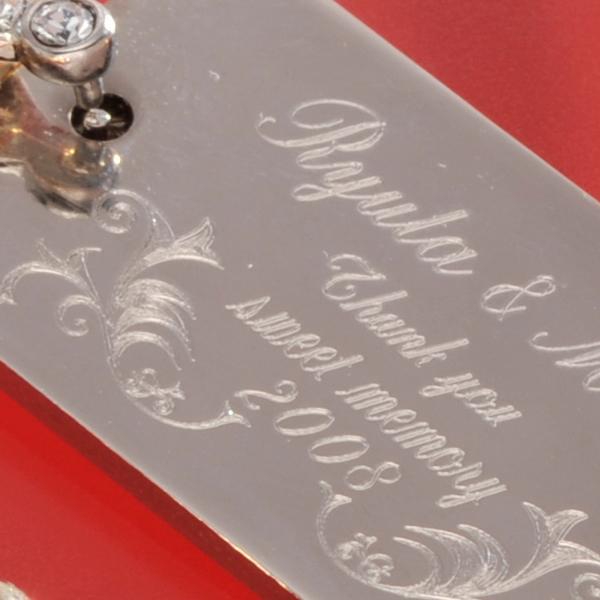 キーリング レディース おしゃれ ギフト 名入れ プレゼント GOLDドクロキーリング オリジナルスクウェアプレートセット |original|02