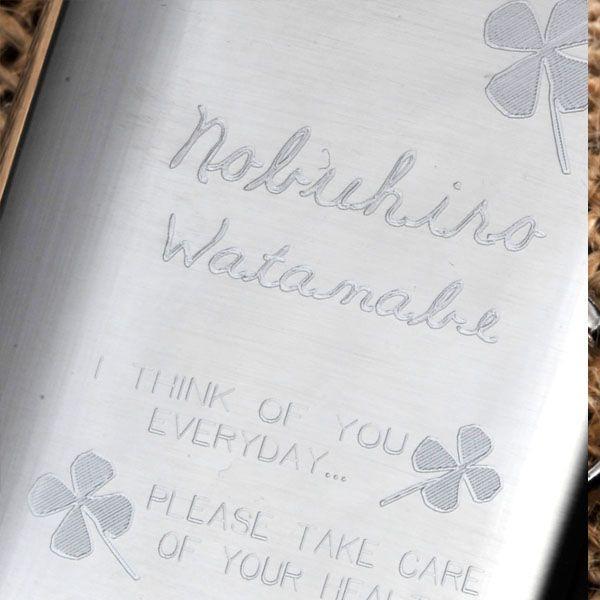 誕生日プレゼント 男性 彼氏 旦那 名入れ プレゼント ステンレス ミニリキュールケース-キーリング|original|04