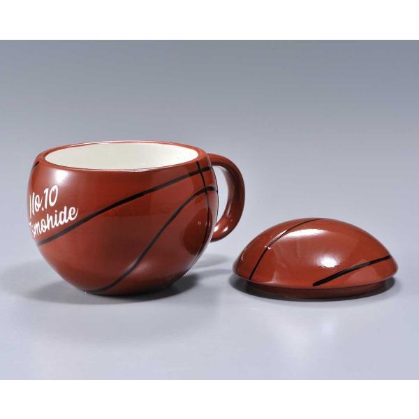 バスケットボール マグカップ 名入れ プレゼント おもしろ 食器 記念品 卒業記念 バスケット ふたつき original 02