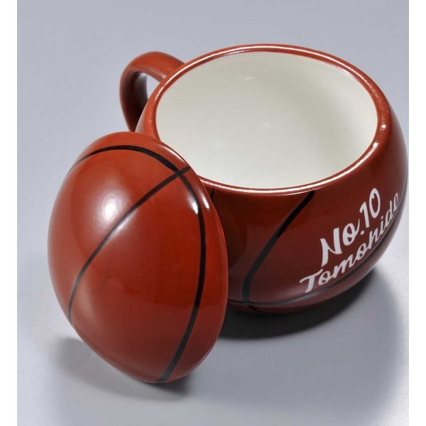 バスケットボール マグカップ 名入れ プレゼント おもしろ 食器 記念品 卒業記念 バスケット ふたつき original 03