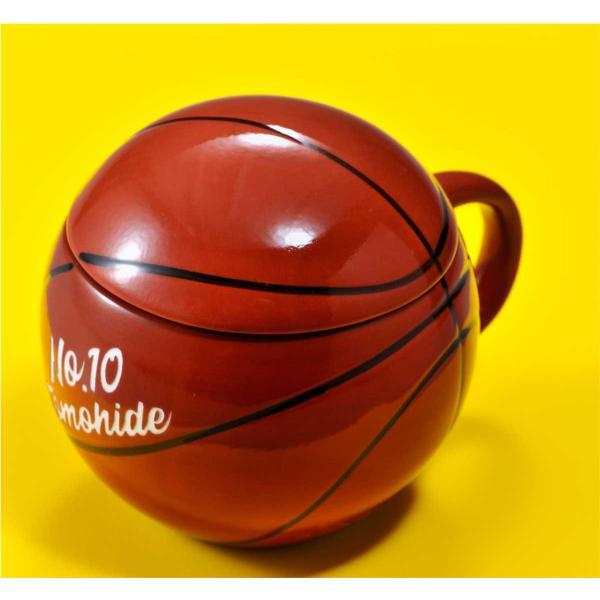 バスケットボール マグカップ 名入れ プレゼント おもしろ 食器 記念品 卒業記念 バスケット ふたつき original 05