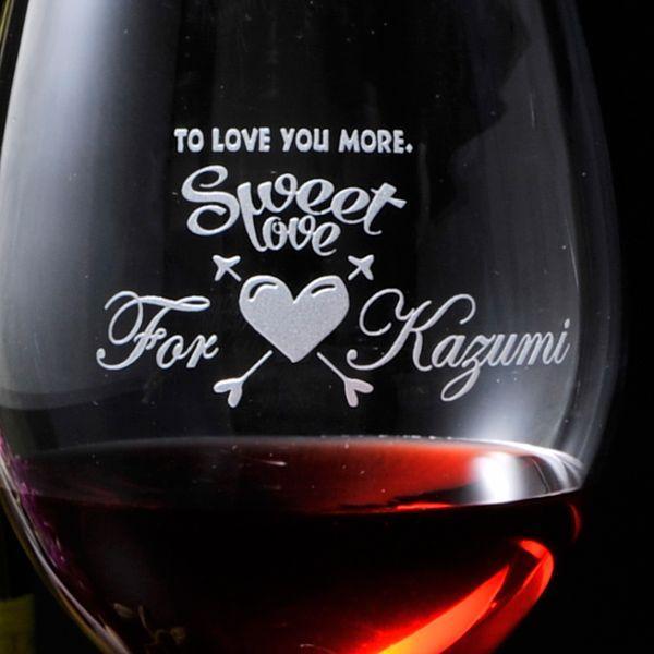 名入れ プレゼント ギフト 選べる 彼氏 彼女 男性 女性 誕生日 記念日 お洒落な欲張りセット 赤ワイン & 白ワイン & ワイングラス お一人様セット|original|03