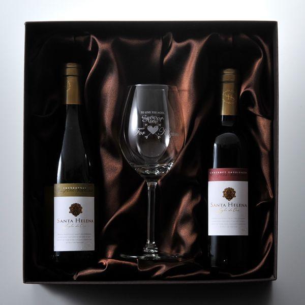 名入れ プレゼント ギフト 選べる 彼氏 彼女 男性 女性 誕生日 記念日 お洒落な欲張りセット 赤ワイン & 白ワイン & ワイングラス お一人様セット|original|05