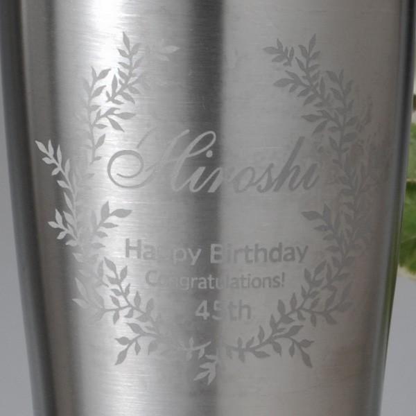 名入れ タンブラー おしゃれ  誕生日 プレゼント 女性 男性 名入れ 名前入り ギフト ビールが最高に美味い 真空断熱タンブラー サーモス ペアセット|original|05