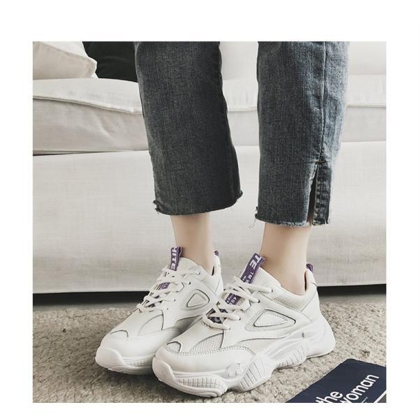 スニーカー  ランニングシューズ レディース スポーツシューズ 女性用ウォーキング  軽量日常着用 通学に適用 運動靴
