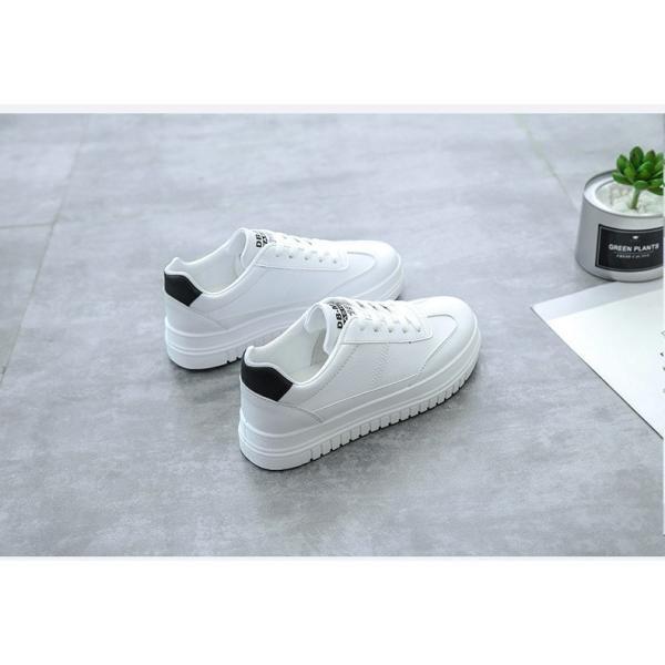 スニーカー  ランニングシューズ レディース スポーツシューズ 厚いソール 女性用ウォーキング  軽量日常着用 通学に適用 運動靴