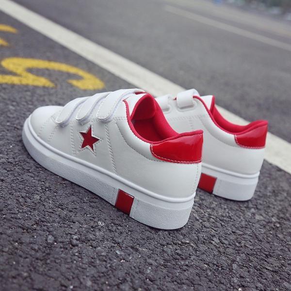 スニーカー レディース 靴 可愛いPU ローカット シューズ 旅行通学靴軽量 歩きやすい アウトドアに最適
