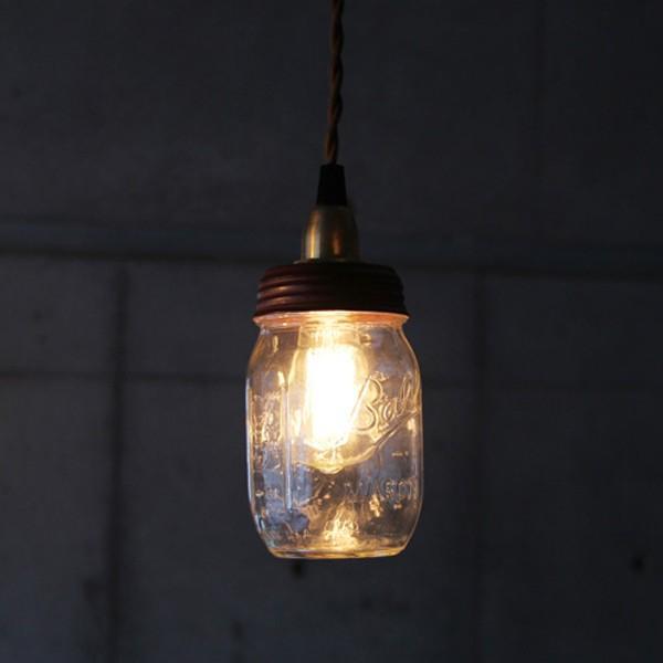 ボール メイソンジャー ランプ  シーリングライト テールブルライト 照明 カフェ