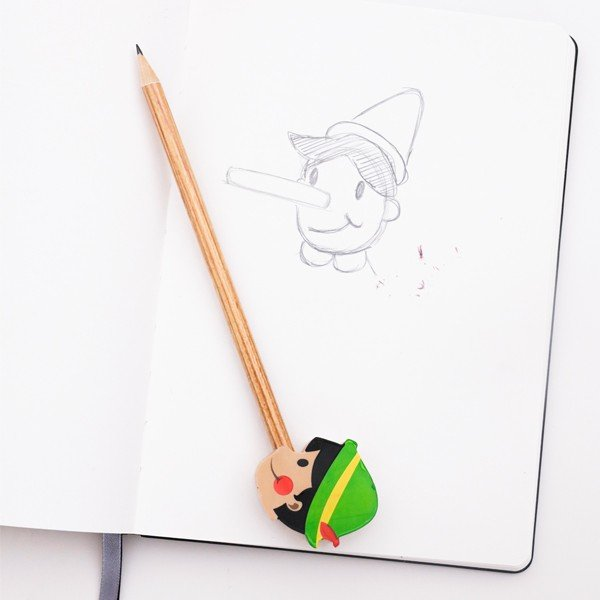オネストボーイ ペンシル えんぴつとピノキオ消しゴムのセット 鉛筆 筆記用具