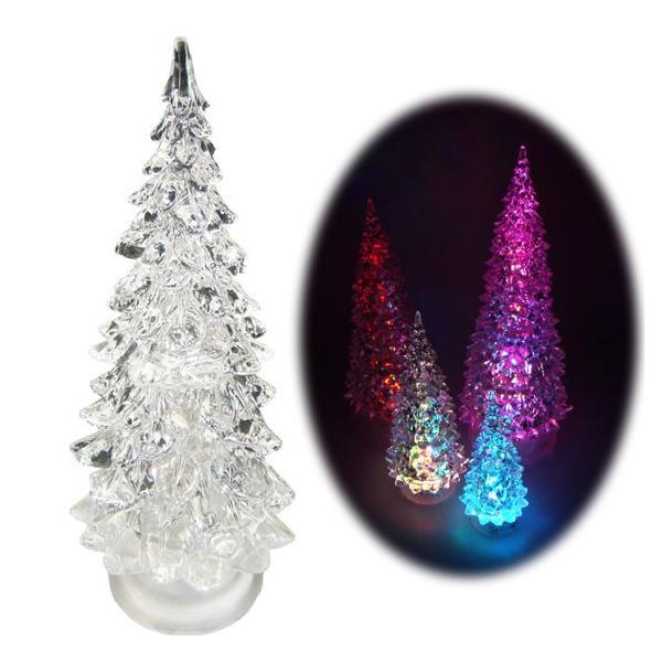 RoomClip商品情報 - LED クリスマスツリー 7色にカラーチェンジする ツリー LEDライト Sサイズ ミニサイズ