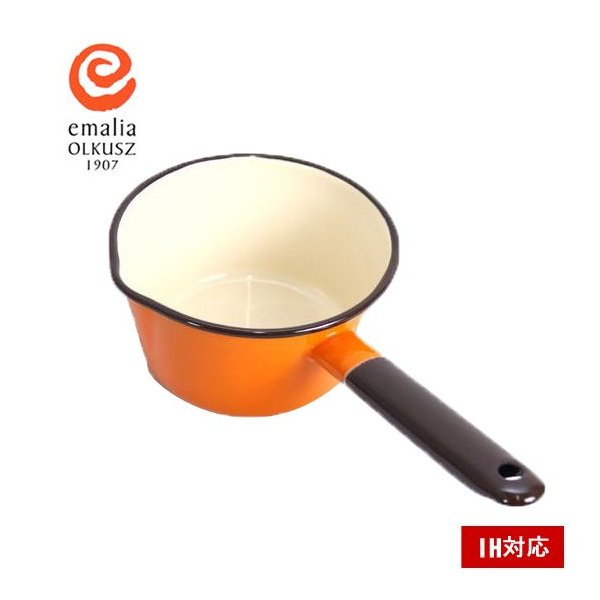 RoomClip商品情報 - 琺瑯 ホーロー ミルクパン 900ml IH対応 片手鍋 北欧ブランド emalia olkusz