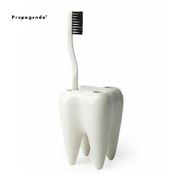 プロパガンダ 歯ブラシホルダー おしゃれ 歯ブラシスタンド 歯 歯の形 トゥースハブラシホルダー
