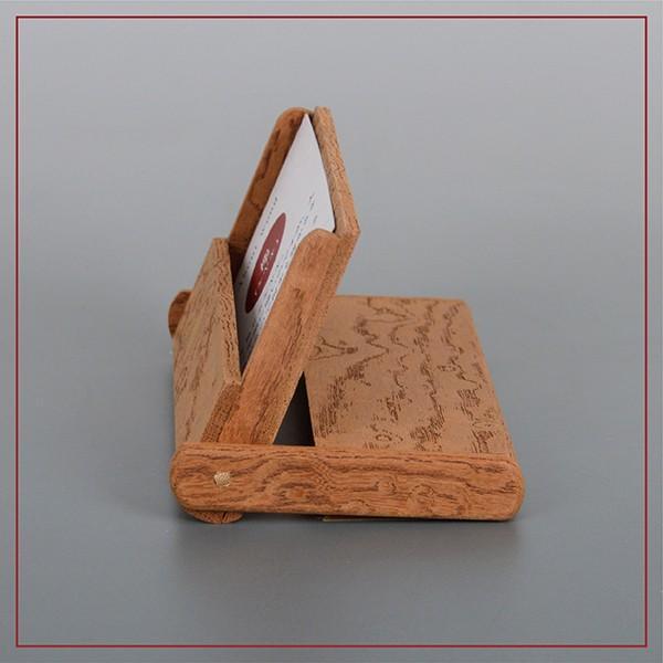 国産 木製 名刺入れ(ケヤキ 木曽ヒノキ) 約15枚収納可能 |orite|02