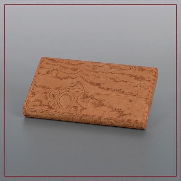国産 木製 名刺入れ(ケヤキ 木曽ヒノキ) 約15枚収納可能 |orite|04