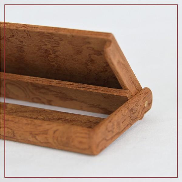 国産 木製 名刺入れ(ケヤキ 木曽ヒノキ) 約15枚収納可能 |orite|05