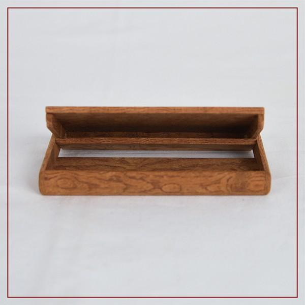 国産 木製 名刺入れ(ケヤキ 木曽ヒノキ) 約15枚収納可能 |orite|06