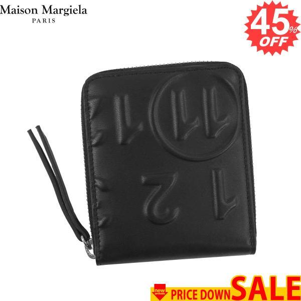 2c170641f47e メゾン マルジェラ 財布 二つ折り財布 MAISON MARGIELA S56UI0111 PORTAFOGLI T8013 BLACK P1931