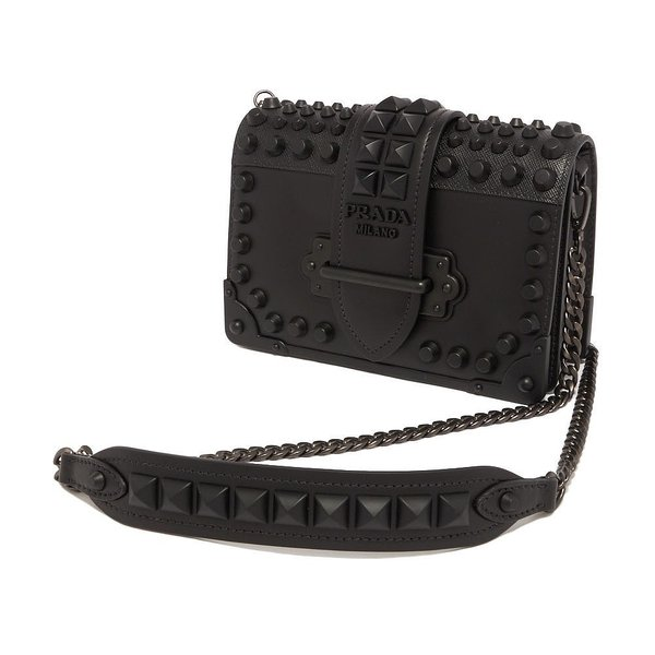 プラダ PRADA ショルダーバッグ Cahier Leather Shoulder Bag 1BH0182BB0 レディース NERO1 F0632【型式】1bh0182bb0f0632bkos