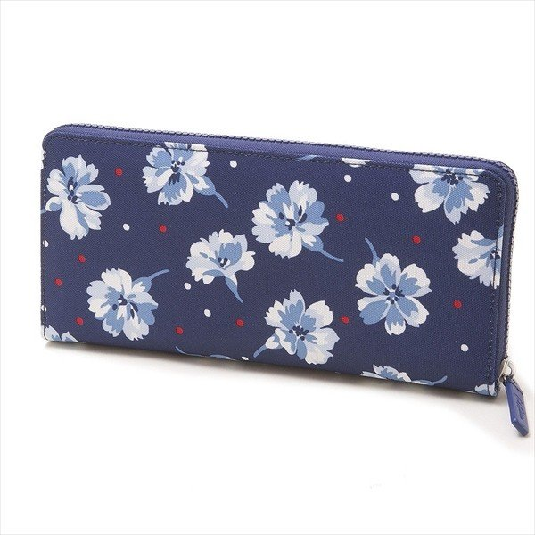 キャスキッドソン 財布 長財布 CATH KIDSTON TRAVEL CONTINENTAL WALLET 832786  TRUE NAVY FAIRFIELD FLOWERS    比較対照価格4752円