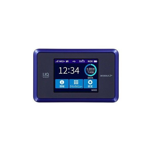 WIMAX 2+ Speed Wi-Fi NEXT WX03 ディープブルー iMQ670595