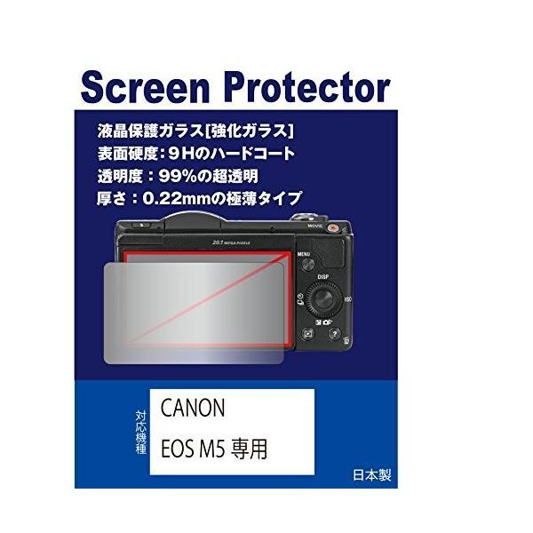 強化ガラスフィルム 硬度9H 透明度97% CANON EOS M5専用 液晶保護ガラス(強化ガラスフィルム)