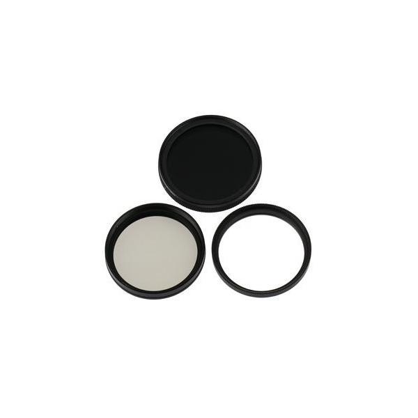 UVレンズフィルター+CPLレンズフィルター+可変NDフィルター FUJIFILM X-T100 レンズキット用 互換マルチコートUVレンズ