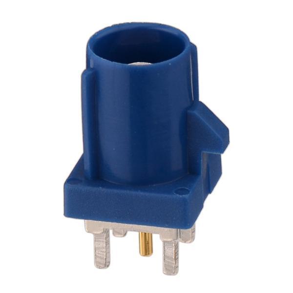 Superbat 5個入 Fakra コネクタ Fakra-C PCB実装型 圧着 ケーブル自作 青い